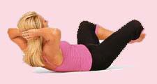 Простые упражнения для живота